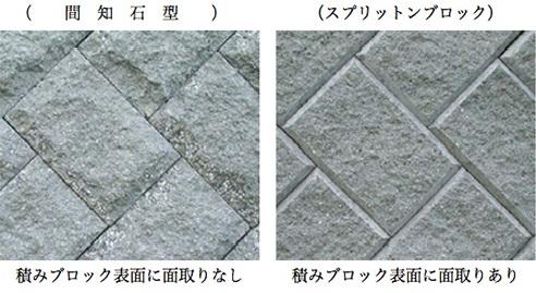 積みブロック間知石型